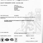 BSI ISO 9001 Certificate