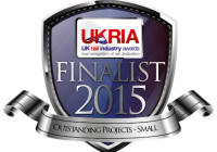 We're finalists - hooray!