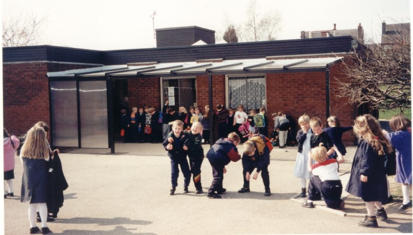 One of the first school canopies that we manufactured