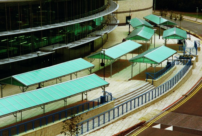 Canopies with a difference! These were installed at a local market