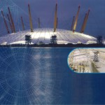 We manufactured 1 Kilometre of modified Multi-Link-Panels, 10 metres high, for the walls of the Millennium Dome (now the O2 Arena)