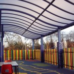 We were are really pleased with this elegant wave-form canopy and so were the school!