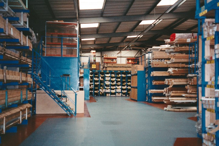 Inside the Gawsworth Court factory after we had moved the business from Reigate to Warrington