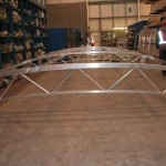 We carry out a dry assembly of every structure prior to powder coating