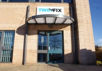 the new Twinfix entrance canopy