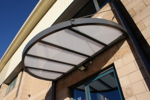 Glazed with 6mm opal solid polycarbonate