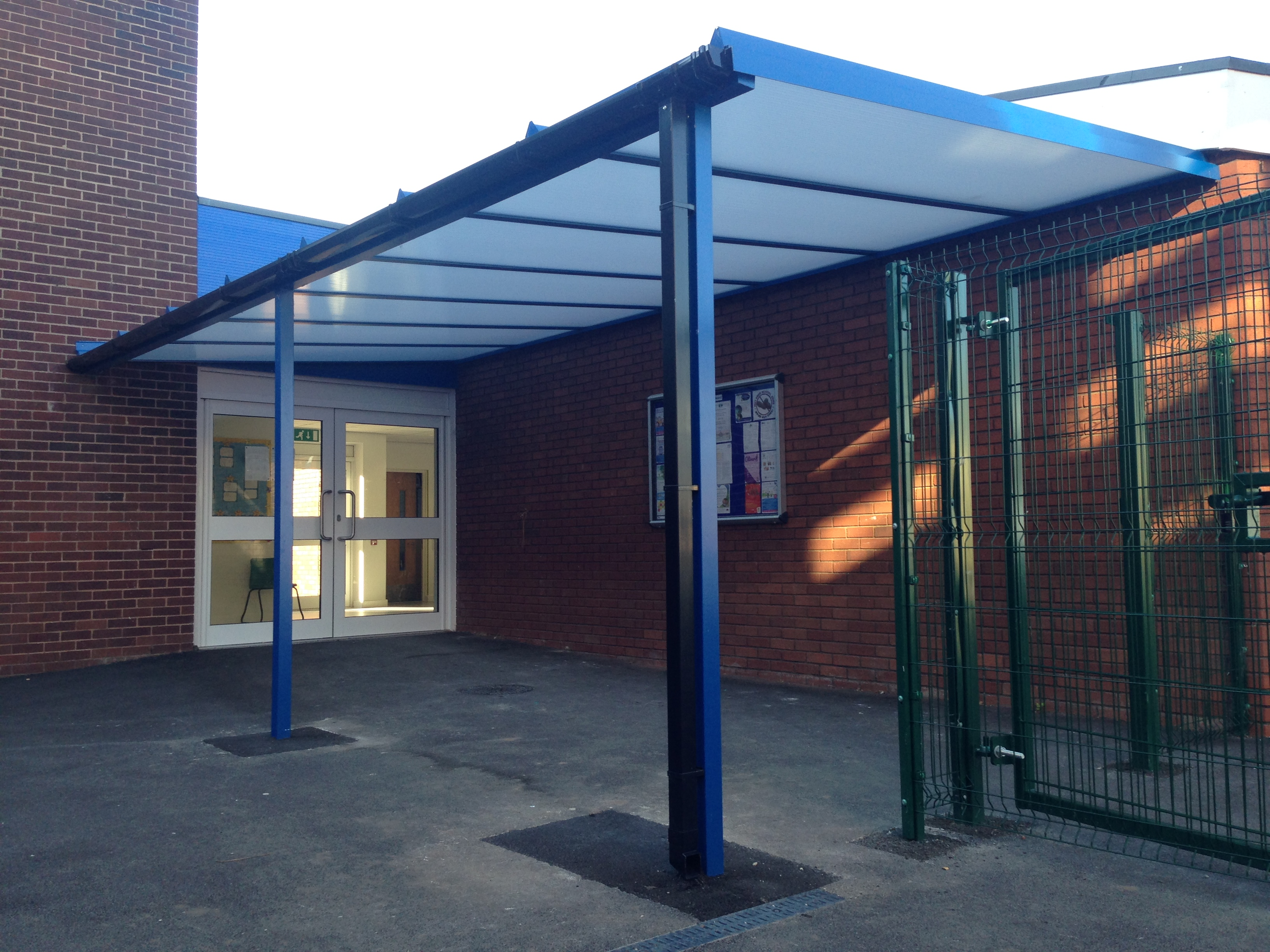 The second small entrance canopy requested by the Headteacher (Phase 2)