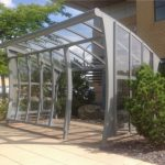 The new smoking shelter commissioned by Birchwood Park