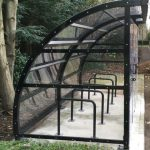 This client requested lockable doors on their bike shelter