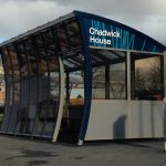 One of the Twinfix bus-shelters on Birchwood Park