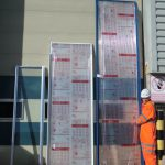 Solid and multiwall polycarbonate fitted into Multi-Link-Panels NF (non-fragile)