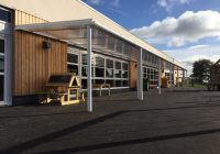 One of the Early Years canopies at the Gaer Primary School, Newport
