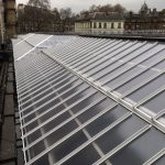 Non-Fragile Multi-Link-Panels glazed with Georgian wired polycarbonate