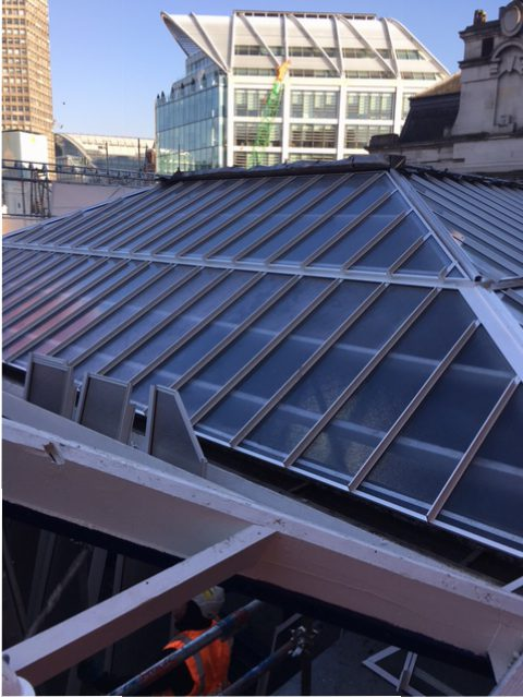 The same view with refurbished Multi-Link-Panel NF glazing