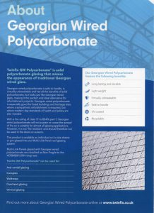 Page 2 of our Georgian Wired Polycarbonate brochure