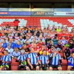 Teams gathered at Oakwell Stadium ready to begin