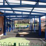 Aluminium framed School canopies