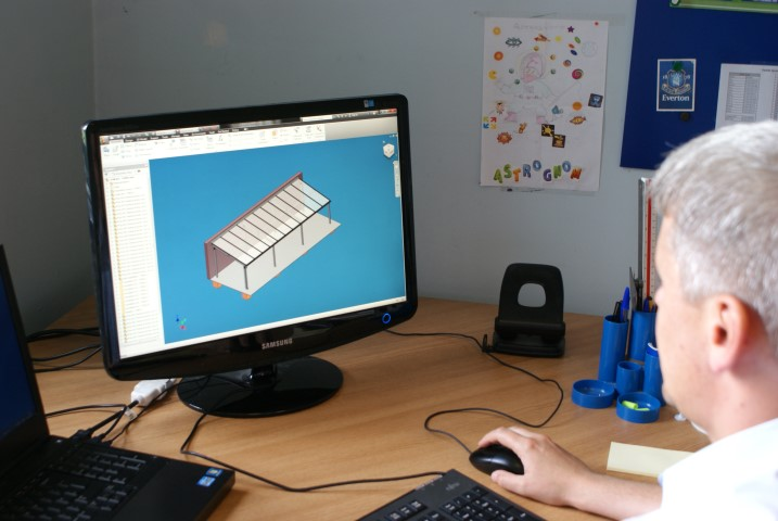 Using the latest IT equipment helps us when designing our aluminium structures