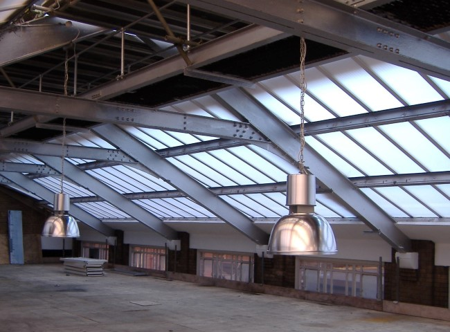 Multi-Link-Panel rooflights manufactured in our factory for quick installation on site