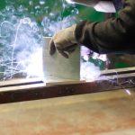 Welding aluminium in our factory