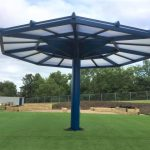 The new umbrella canopy ready for use
