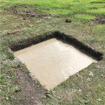 The finished foundation pot